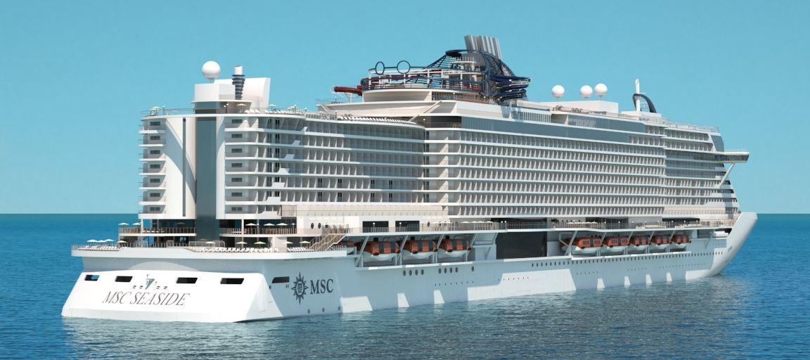 Overdracht MSC Seaside aan rederij MSC Cruises @ Monfalcone, Italië